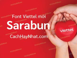 Font Sarabun Việt Hóa - Font Viettel Mới 2021