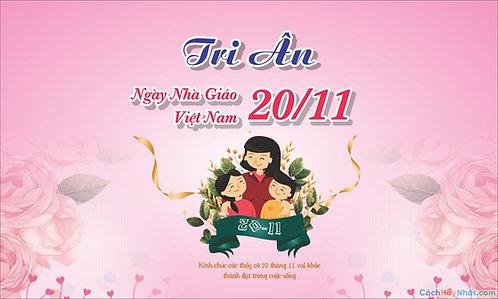 Phông Nền Background Ngày Nhà Giáo Việt Nam 20/11 Vector Corel CDR 03
