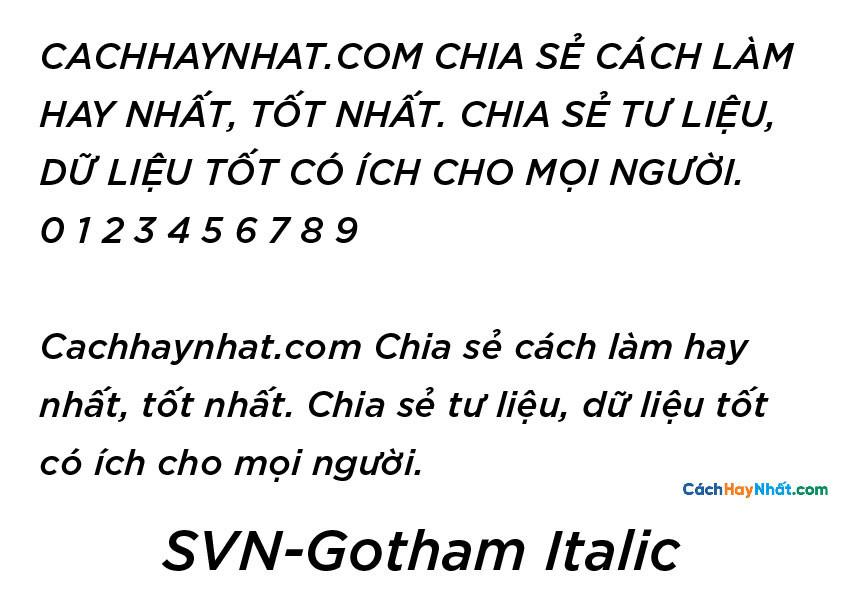 SVN-Gotham Regular Italic