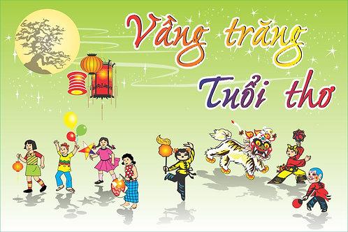 Background Backdrop Trung Thu Vector Corel CDR 105