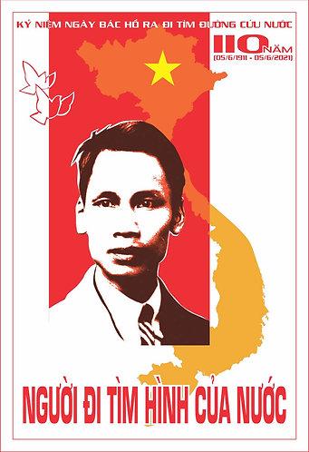 Poster Kỷ Niệm 110 Năm Bác Hồ Ra Đi Tìm Đường Cứu Nước File Vector CDR Corel 03
