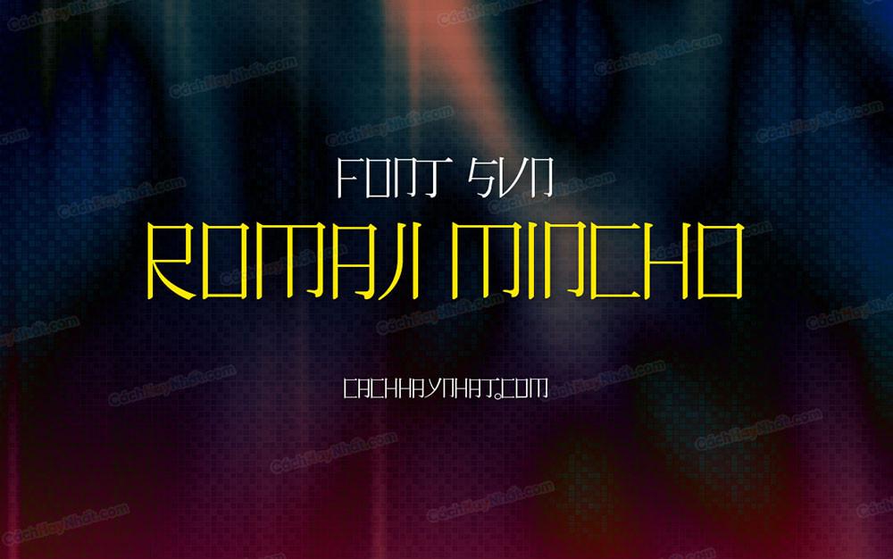 ảnh bìa font SVN Romaji Mincho Việt hóa