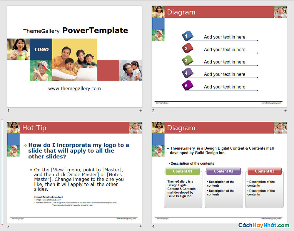 Download PowerPoint Template 435TGp_smile_light_ani