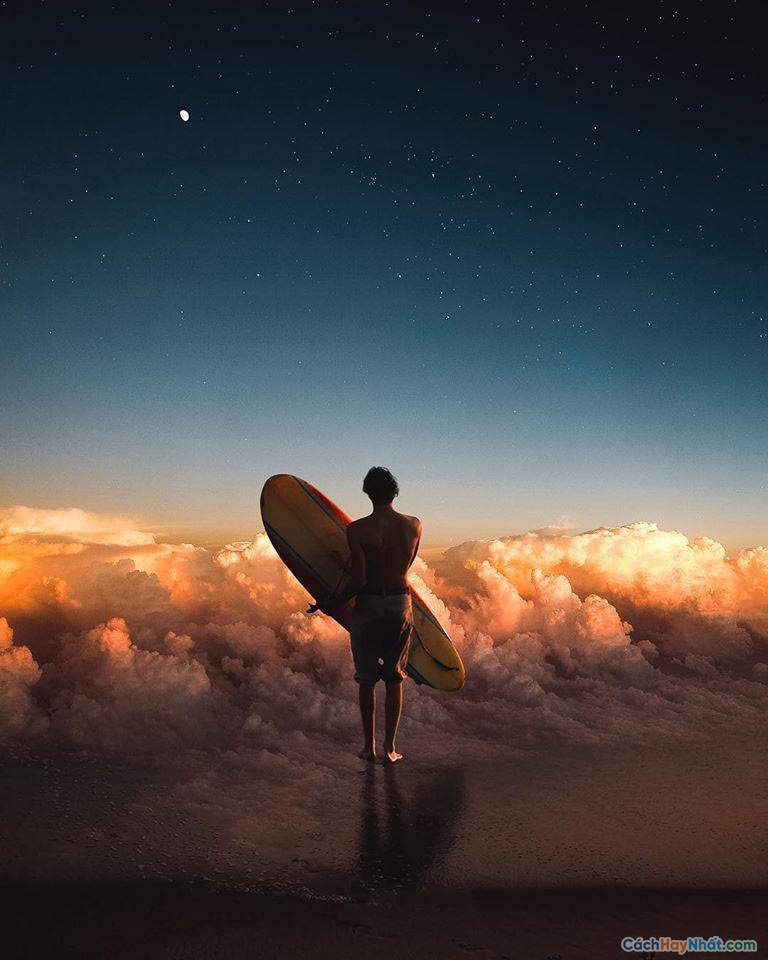 Thao tác ảnh lướt trên đám mây của justin peters