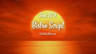 Download Font SVN-Bistro Script Việt Hóa