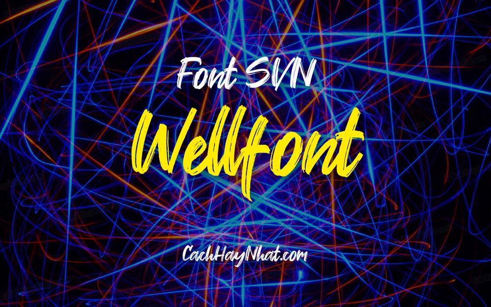 ảnh bìa font SVN Wellfont Việt hóa