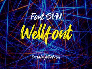 Download font SVN Wellfont Việt hóa - Brush font