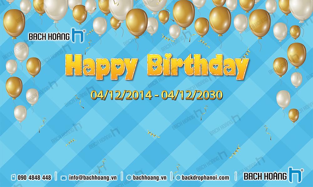 Backdrop Phông Sinh Nhật Công ty - Backdrop Birthday Company