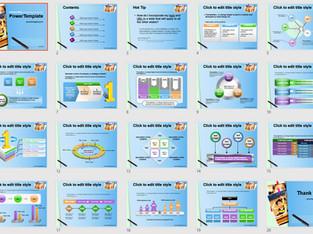 Download Powerpoint Template Free - 587TGp School light 14