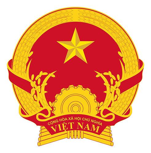 Quốc Huy Việt Nam Chuẩn Vector - Vietnam National Emblem Standard Vector