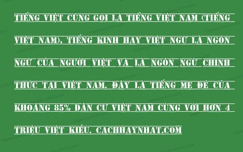 đoạn văn bản font SVN Top Secret Việt hóa