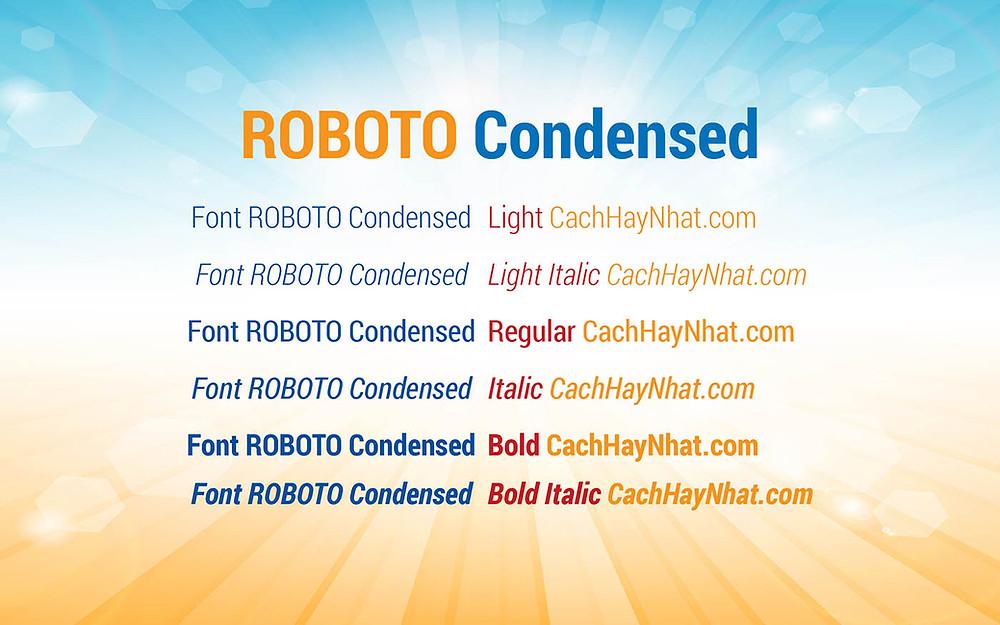 Font Roboto Condensed