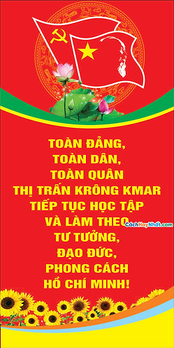 Vector Pano Đại Hội Đảng - Pano vector party congress