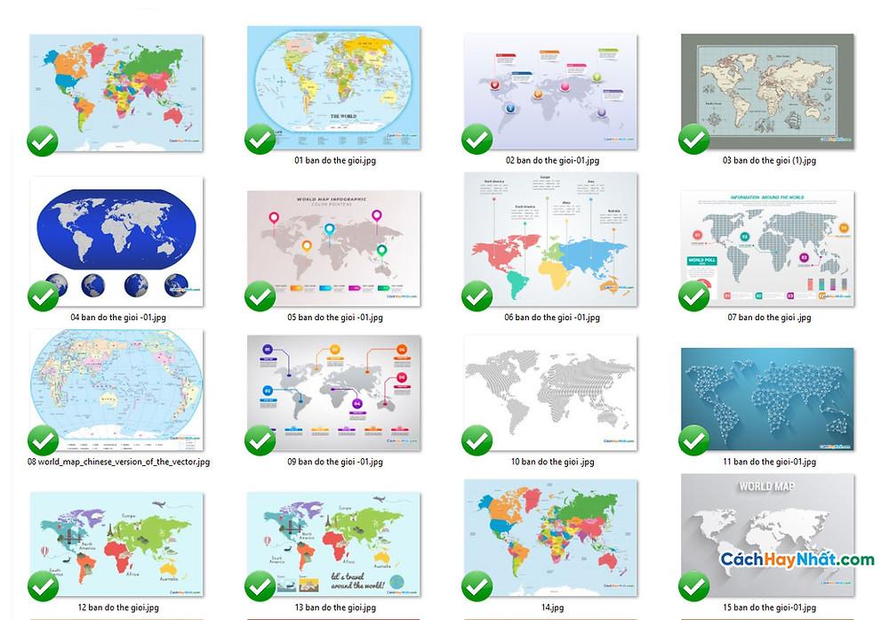 Tổng Hợp Bản Đồ Thế Giới World Map File Vector Corel AI EPS Part 01
