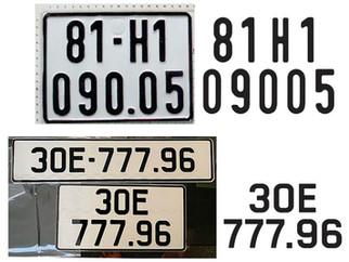 Download Font Chữ Biển Số Xe Ô Tô Xe Máy Mới Nhất