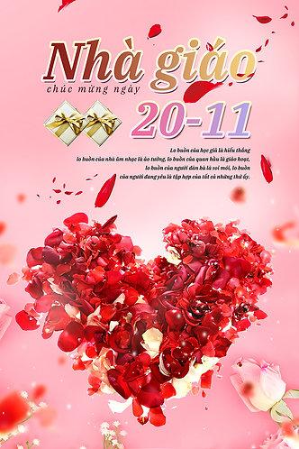 Poster Ngày Nhà Giáo Việt Nam 20/11 PSD Photoshop 23
