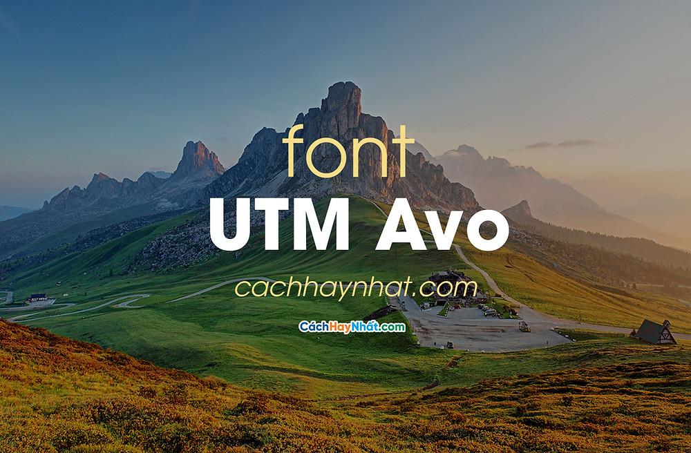 Font UTM Avo Việt Hóa