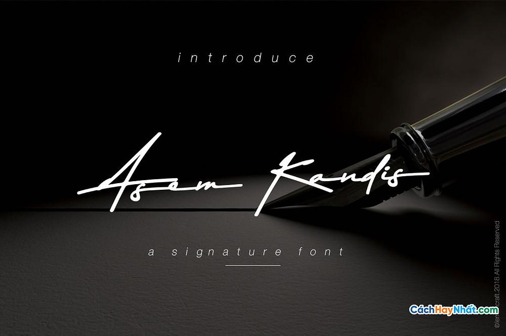 Free Font Asem Kandis Signature