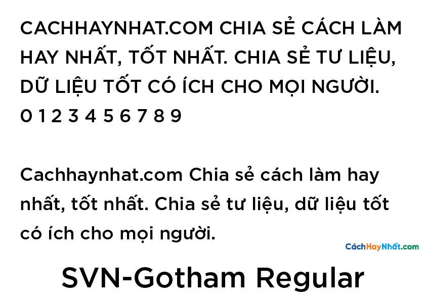 SVN-Gotham Regular