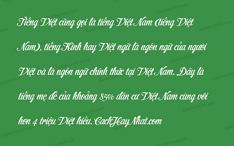 Font UVF Cider Script Việt Hóa