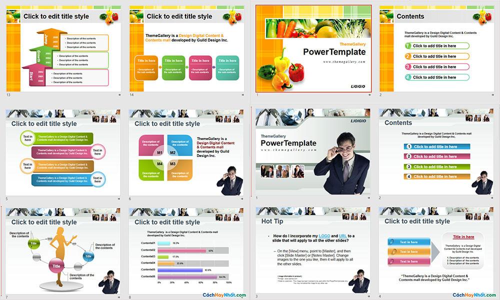 Mẫu Powerpoint Template Free Đẹp - Phần 03