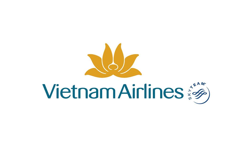 Logo Vietnam Airlines Sky Team - Bố cục dọc