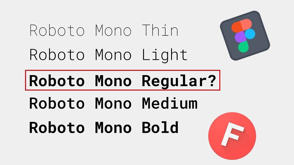 Font Roboto Mono