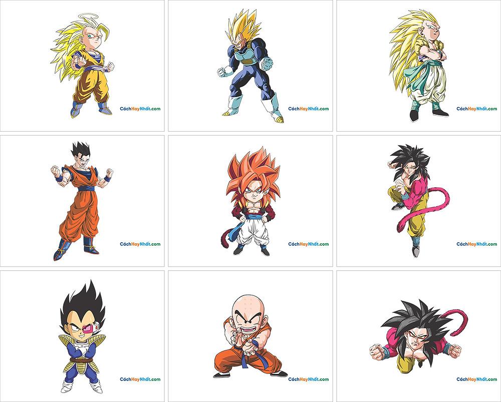 Free Vector Corel PNG 7 Dragon Ball - 7 Viên Ngọc Rồng 03