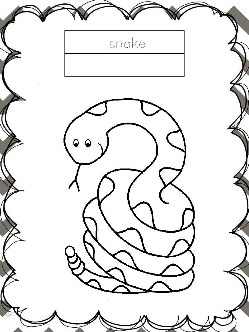 Tập tô màu động vật cho bé - con rắn - snake