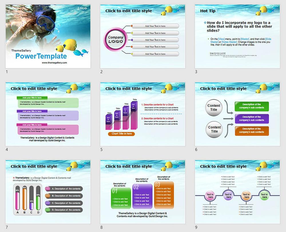 Download Powerpoint Template Free - 585TGp_Skinscuba_light 13