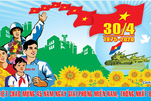 Pano biển bảng Giải phóng miền nam 30/4 - Pano signpost Liberation south 30/4