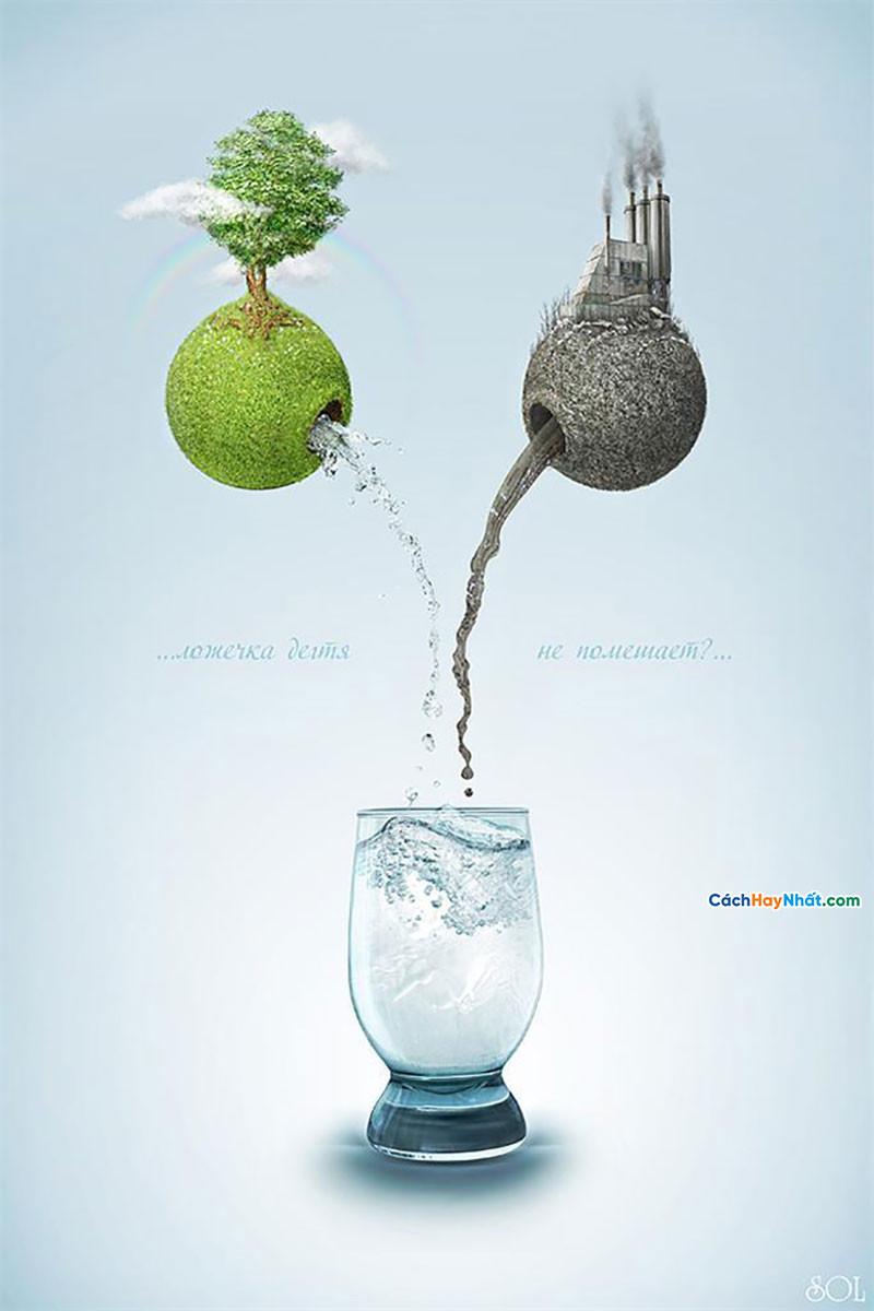 Thiết kế Poster sự nóng lên toàn cầu