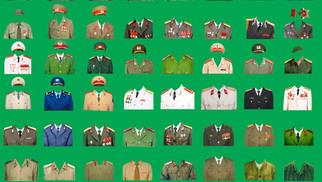 PSD Photoshop Ghép Ảnh Thẻ Quân Phục Bộ Đội Công An 07