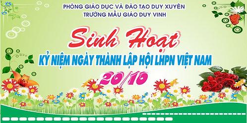 Phông Nền Background Ngày Phụ Nữ Việt Nam 20/10 Vector Corel CDR 14