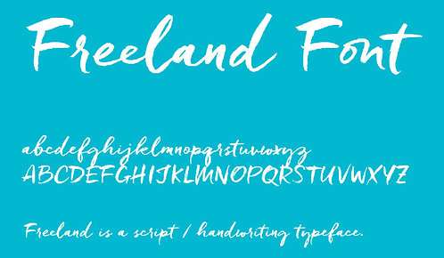 Download Phông Chữ Calligraphy - Freeland Font