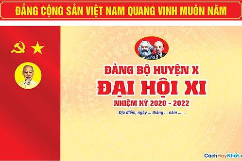 Mẫu Phông Sân Khấu Đại Hội Đảng - Stage Template For Congress Party Vector