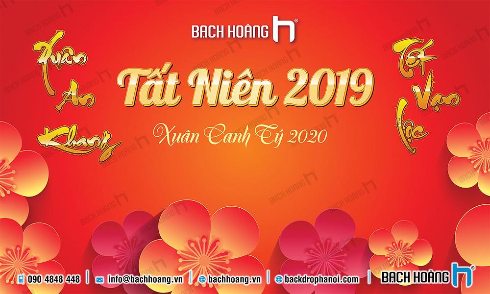 Backdrop Phông Tất Niên Đẹp 2020