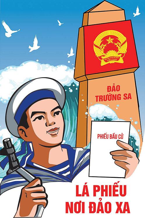 Pano Poster Cổ Động Bầu Cử Vector Corel CDR