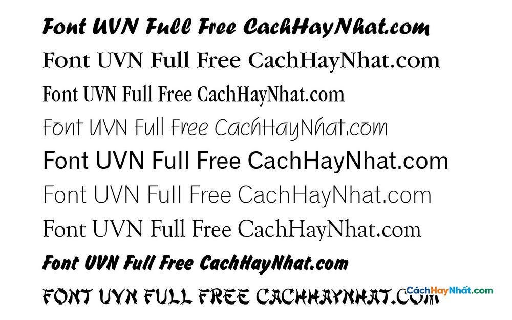 Bộ Font UVN Full - UVN Font Việt Hóa