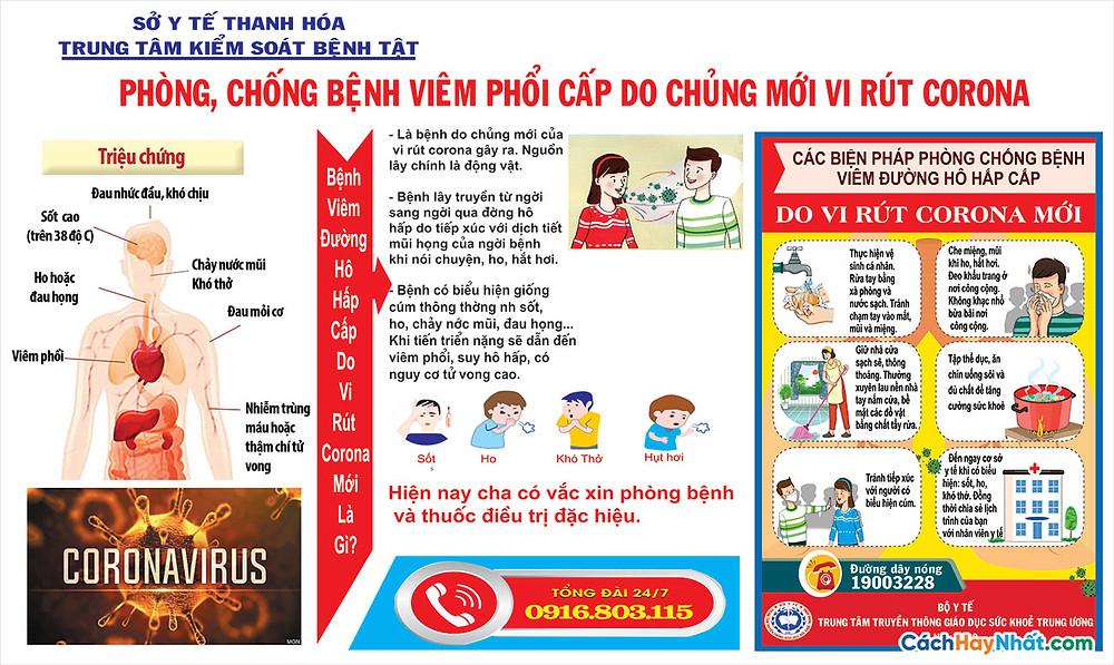 Tờ Rơi, Poster, Pano COVID-19 File Vector Corel 03
