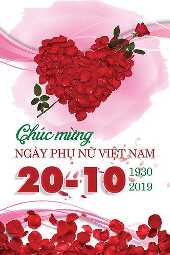 Phông Nền Background Ngày Phụ Nữ Việt Nam 20/10 PSD Photoshop 08