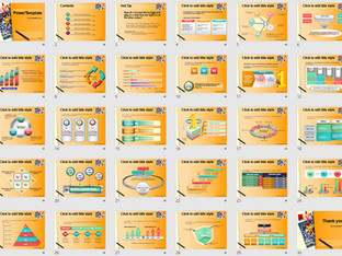 Download Powerpoint Template Free - 587TGp School light ani 15