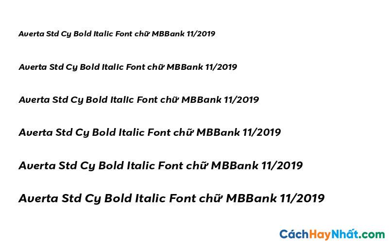 Averta Std Cy Bold Italic Font - MBBank