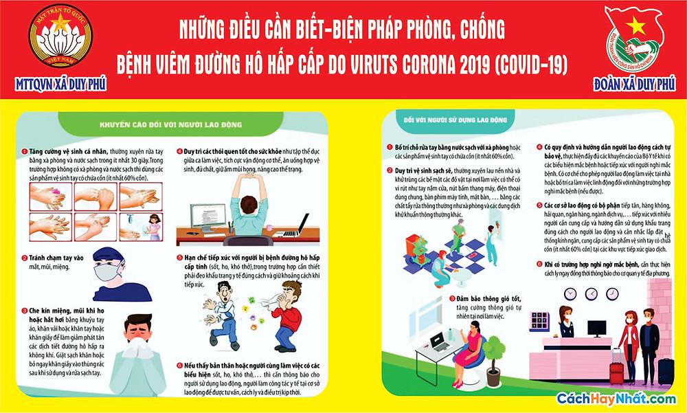 Tờ Rơi, Poster, Pano COVID-19 File Vector Corel 02