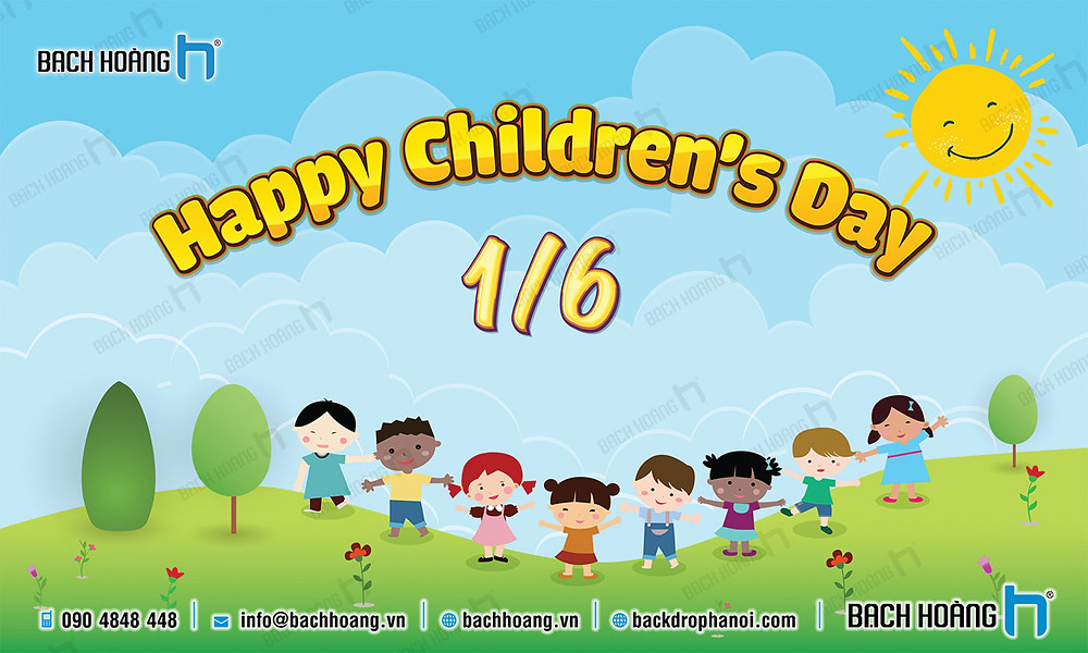 Phông Quốc tế Thiếu nhi 1/6 - Backdrop International Children's Day