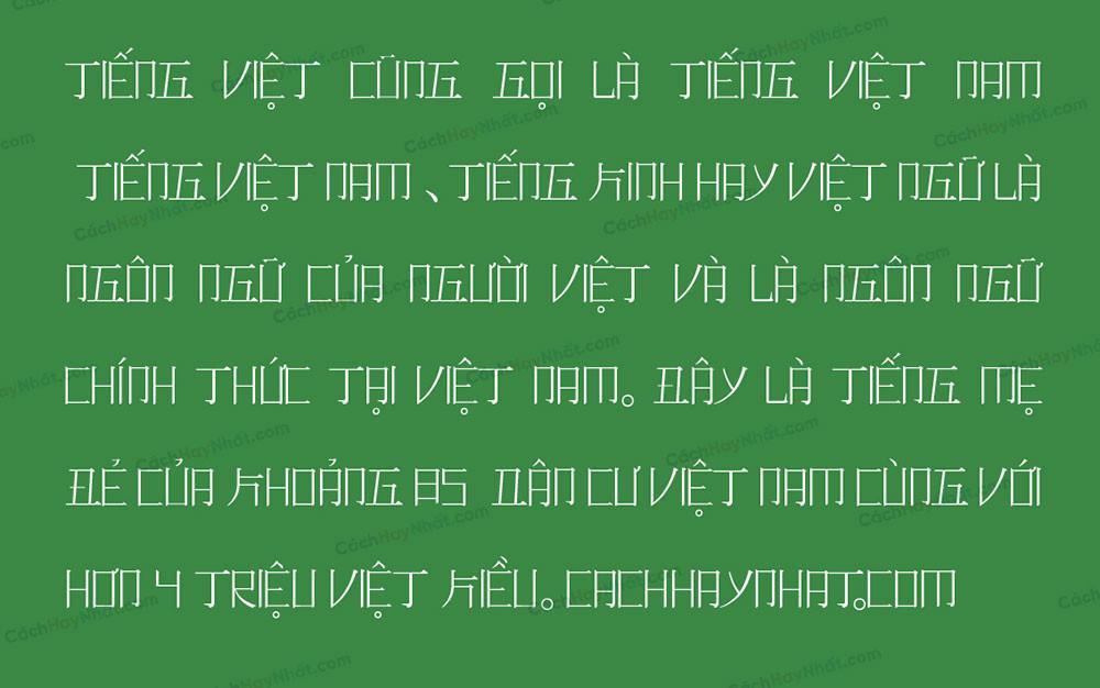 đoạn văn bản font SVN Romaji Mincho Việt hóa