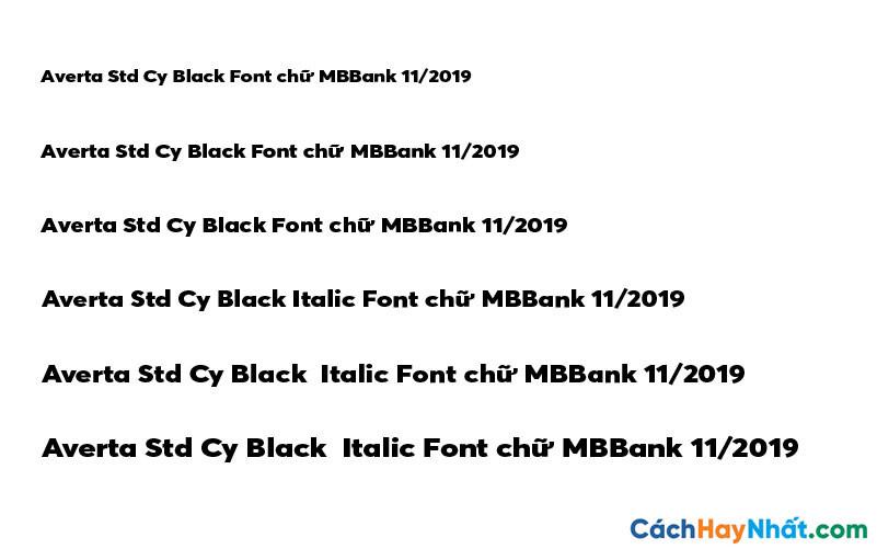 Averta Std Cy Black Font - MBBank