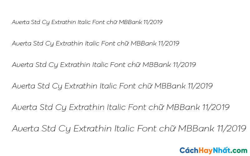 Averta Std Cy Extrathin Italic Font - MBBank