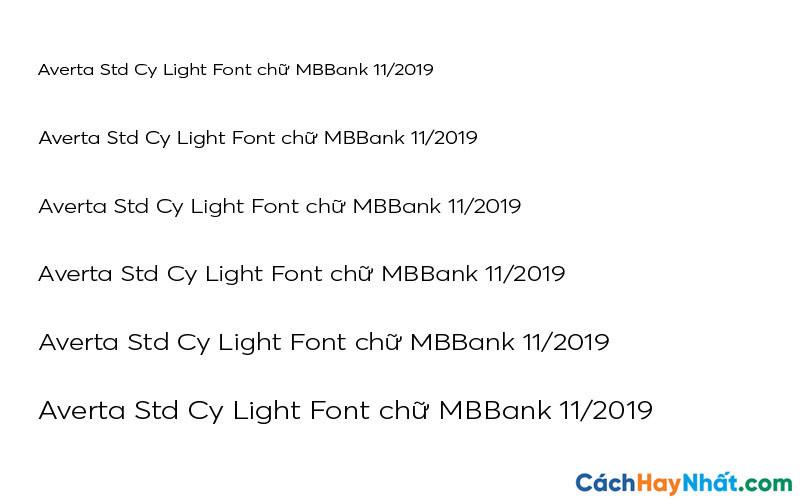 Averta Std Cy Light Font - MBBank