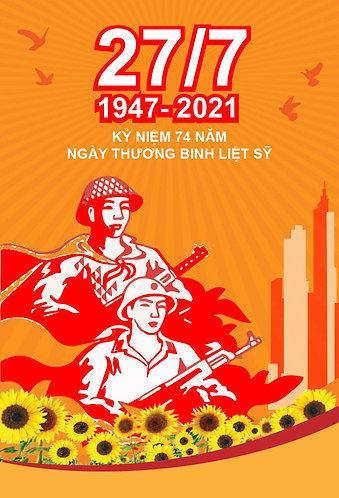 Download Poster Pano Kỷ Niệm Ngày Thương Binh Liệt Sĩ 27/7 File Vector AI